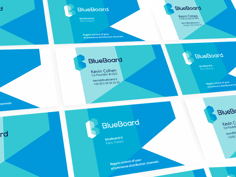 Blueboard logo and business cards  identity design by alex tass