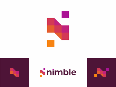 N for nimble, beautiful apps developer, logo design