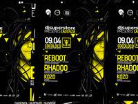 Reboot, Rhadoo, poster design