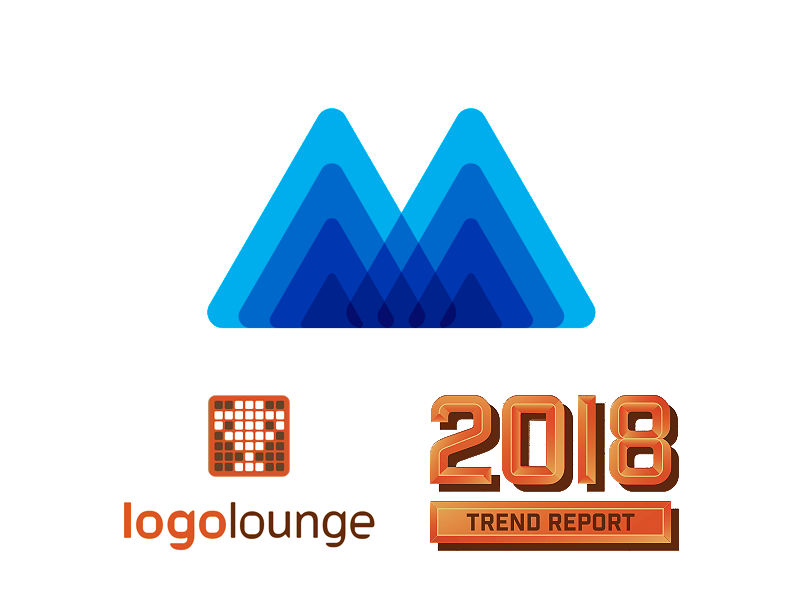 M for mind heroes in logolounge 2018 logo design trends by alex tass
