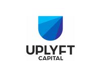 U letter mark, shield, arrows, finance logo design