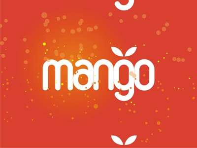 Mango Logotype Word Mark Design Alex Tass logo designer logo design custom branding identity brand typographic typography type logotype design logo colorful creative clubbing music electronic romania agency booking dj edm dance music mango fruit fruits mandarin orange tangerine