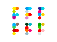 F for Farma / pharmaceutics dynamic logo design symbol