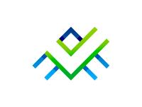 Letter A + checkmark logo design symbol