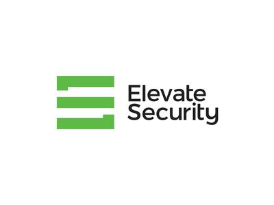 ES monogram + stairs, Elevate Security logo design