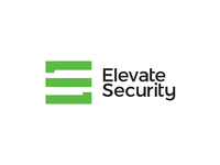 ES monogram + stairs, Elevate Security logo design