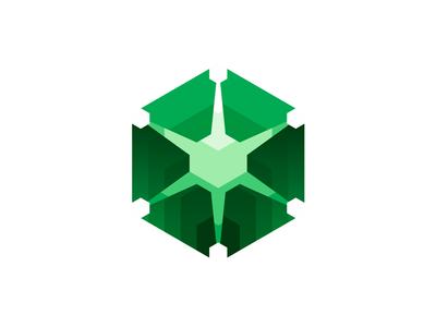 Server software monitoring system logo design symbol