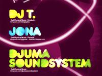 Dj T, Jona, Djuma Soundsystem poster design detail