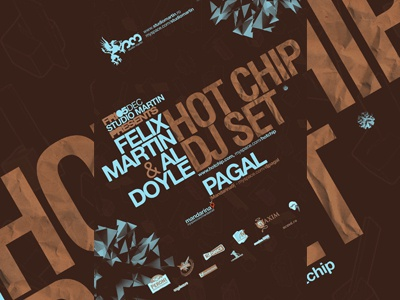 Hot Chip @ SM poster design club poster party poster event poster clubbing poster club flyer clubbing flyer party flyer event flyer club clubbing party event poster flyer design electronic music house music poster design flyer design