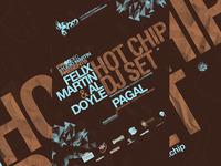 Hot Chip @ SM poster design