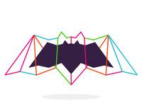 alextass.com logo design symbol - bat in colors