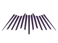 alextass.com logo design symbol - light linear bat