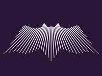 alextass.com logo design symbol - linear bat