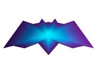 alextass.com logo design symbol - the warp bat