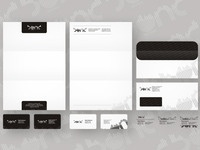 Bond Records stationery design
