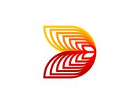 D letter mark / monogram, logo design symbol