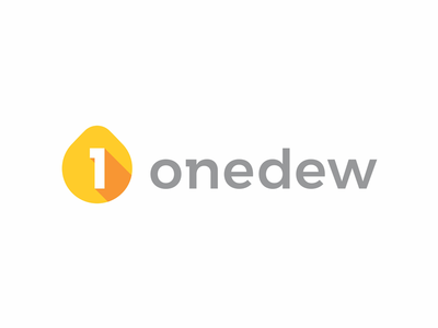 Onedew, logo design for visual information analysis wiki number 1 droplet drop water dew one decision process topical matter information news articles wiki visual information analysis flat 2d geometric vector icon mark symbol logo design logo