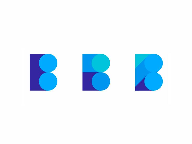 B letter explorations business intelligence logo design symbol by alex tass
