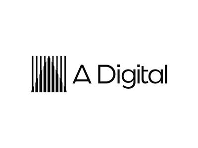 A. Digital, logo design for digital marketing agency pyramid pinnacle logo logo design vector icon mark symbol flat 2d geometric a letter mark monogram digital marketing agency google search conversion rate