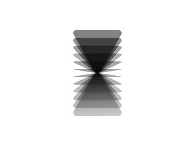 VA monogram, logo design symbol B/W / monochrome