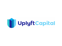 U letter, shield, skyscrapers, finance logo design