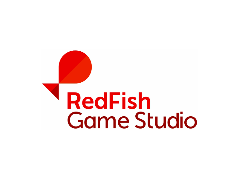 Red fish game studio logo design by alex tass