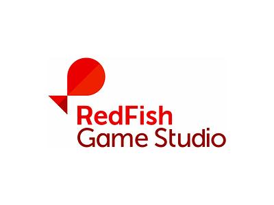Red Fish game studio logo design entertainment marine life sea ocean nature natural underwater wild animals flat 2d geometric vector icon mark symbol logo design logo red fish studio agency gaming games developer
