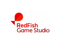 Red Fish game studio logo design
