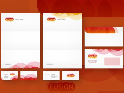 Fusion stationery design by Alex Tass logo designer Dribbble