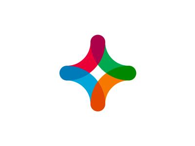 Plus symbol for social network / dating communities logo design