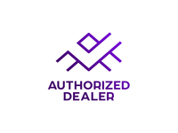 Authorized Dealer logo: letter A, check mark, negative space