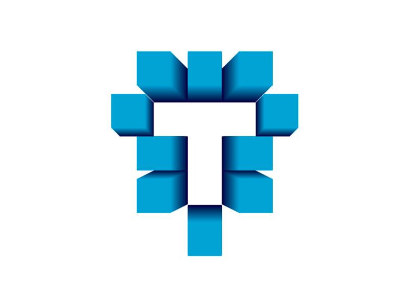 t letter   buildings  architecture 3d scan    print logo