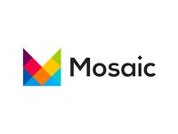 Mosaic, M letter mark, logo design symbol