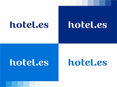 Hotel es logotype word mark logo design by alex tass