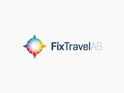 Fix Travel logo design star creative colorful logo design logo design logo designer type typography typographic brand identity branding custom made custom travel scandinavia sweden norway denmark