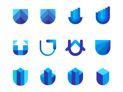 U letter, skyscrapers, shields, capital / finance logo symbols capital ventures shield security building properties real estate evolution scale growth uplift uplyft capital investments fintech letter mark monogram u branding identity dynamic logo finance financial business upwards arrows skyscraper pocket logo design vector icon mark symbol flat 2d geometric money ventures
