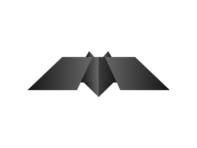Bat logo symbol v 1.0 - 2009 edition, #tbt tbt 2009 origami batman bat creative flat 2d geometric vector icon mark symbol logo design logo logo designer