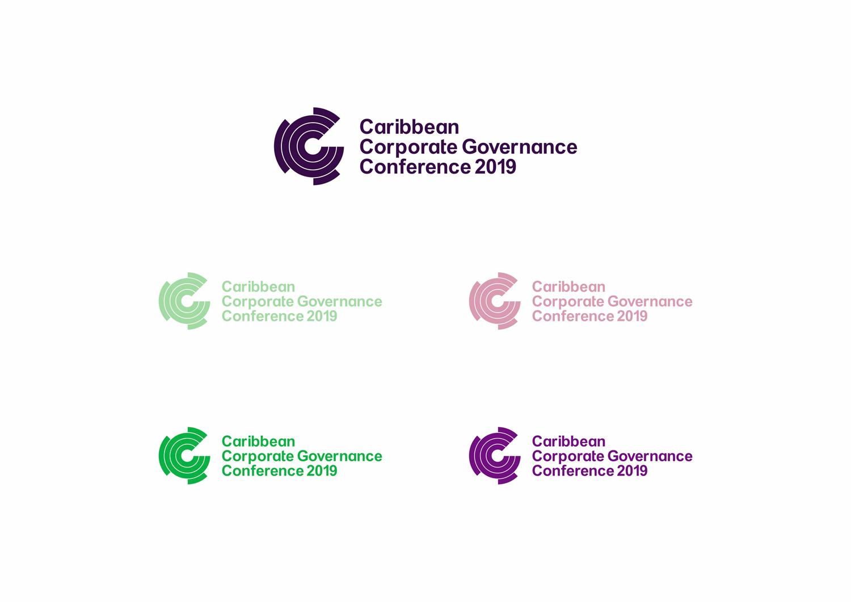 Caribbean corporate governance conference 1 color logo design by alex tass