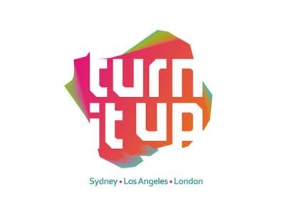 Turn It Up logo design