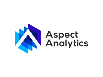 Aspect Analytics, logo design for biomedical IT tools app apps tools tech technology letter mark monogram a scan scanner scanning 3d imaging imagery creative flat 2d geometric vector icon mark symbol logo design data mining machine learning spectral image processing imaging mass spectrometry biomedical research spectral data analysis it software developer insights knowledge extraction medical medicine biomedical bioinformatics