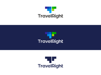 Travel right traveling insurance logo design by alex tass