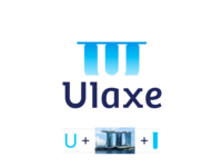 Ulaxe cosmetics logo design: U letter + Marina Bay Sands building lab tube flask vial creative flat 2d geometric vector icon mark symbol logo design logo negative space letter mark monogram u marina bay sands singapore fashion beauty parfume perfume parfum perfumes perfumery cosmetics