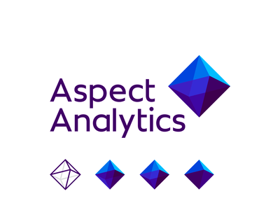 Aspect Analytics, logo design for 3D spectral imagery tools prism logo design data mining technology vector icon mark symbol spectral image processing spectral data analysis scan scanner scanning medical medicine machine learning logo letter mark monogram it software developer insights knowledge extraction imaging mass spectrometry flat 2d geometric depth perspective creative biomedical research biomedical bioinformatics a 3d imaging imagery