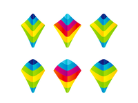 Colorful Kites, e-learning logo design symbol explorations