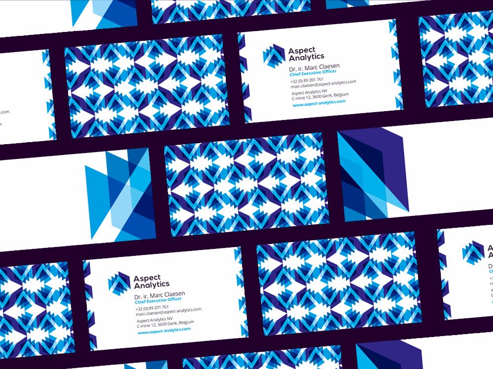 Aspect analytics logo stationery idetity design by alex tass