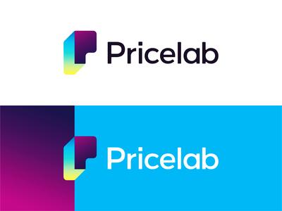 Pricelab logo design: PL monogram / P + L + big data