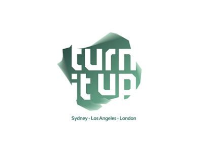 Turn It Up music management logo design creative colorful logo design logo design logo designer logotype type typography typographic brand identity branding custom made custom turn it up music management company records label record record label music publisher sydney los angeles london