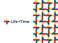 Life + Time, management app logo design, L + T monogram