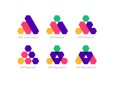 AM / M: main brand logo, network, market, payments products