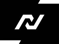 N in Negative Space, logo exploration intelligent smart clever negative space exploration n nn logo logo design vector icon mark symbol flat 2d geometric creative brand identity branding letter mark monogram black and white check mark